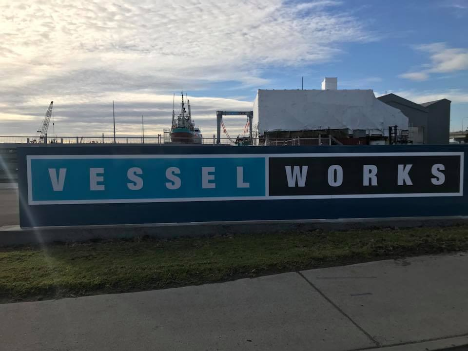 Item 4 - smf made the Vessel Works sign frame